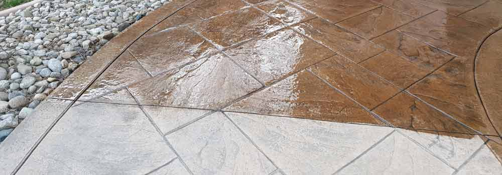Stamped Concrete Walkways & Steps